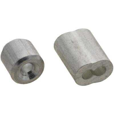 """Prime-Line Cable Ferrules and Stops, 3/32"""", Aluminum"""