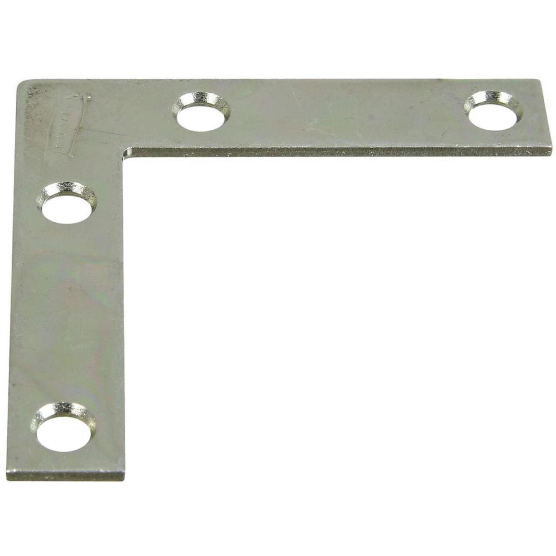 National Catalog 117 2-1/2 In. x 1/2 In. Zinc Flat Corner Iron Image 1