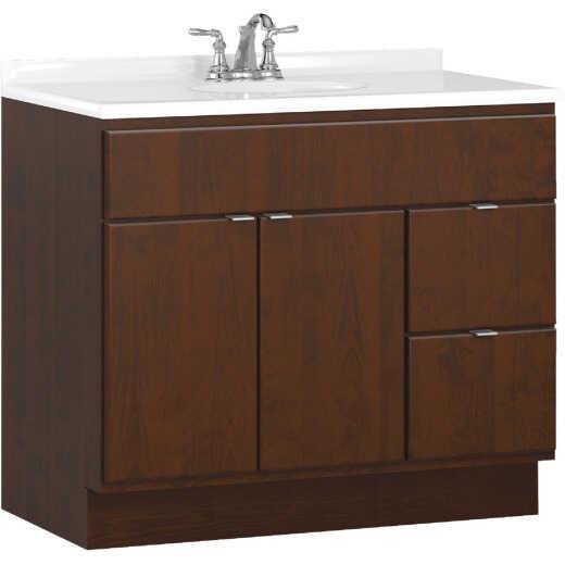 Bertch Riverside 36 In. W x 34-1/2 In. H x 21 In. D Brindle Vanity Base, 2 Door/2 Drawer