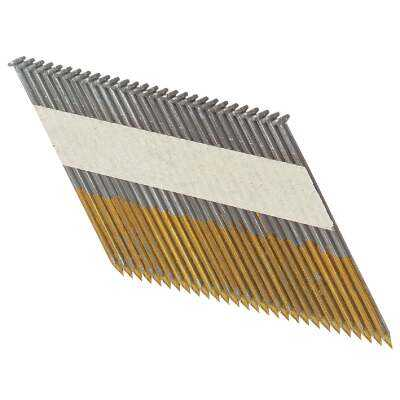 Bostitch 30 Degree Paper Tape Bright Offset Round Head Framing Stick Nail, 2-3/8 In. x .113 In. (5000 Ct.)