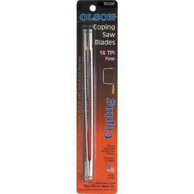 Olson 6-1/2 In. 18 TPI Coping Saw Blade (4-Pack)
