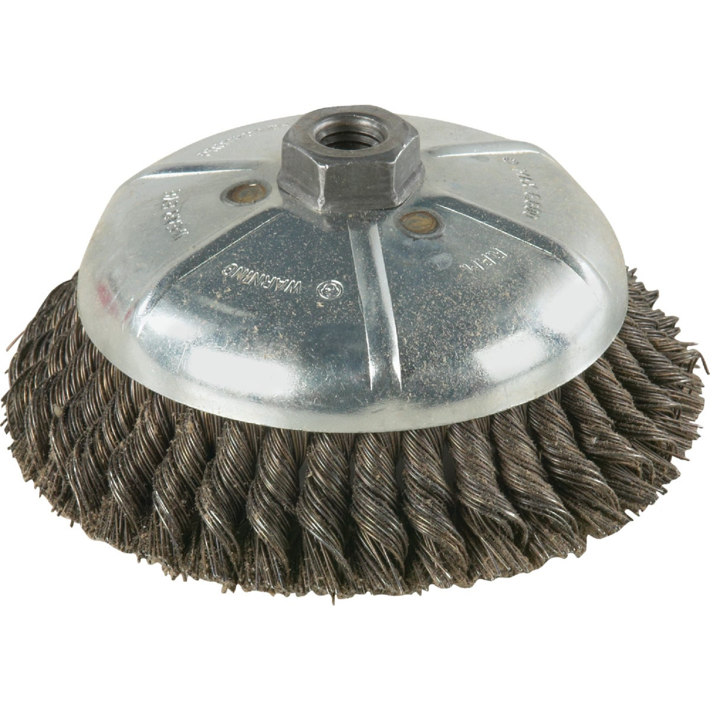 Weiler Vortec 6 In. Knotted 0.02 In. Angle Grinder Wire Brush Image 1