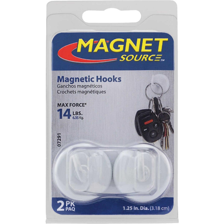 Master Magnetics 1-1/4 in. 14 Lb. Magnet Hooks (2-Pack) Image 2