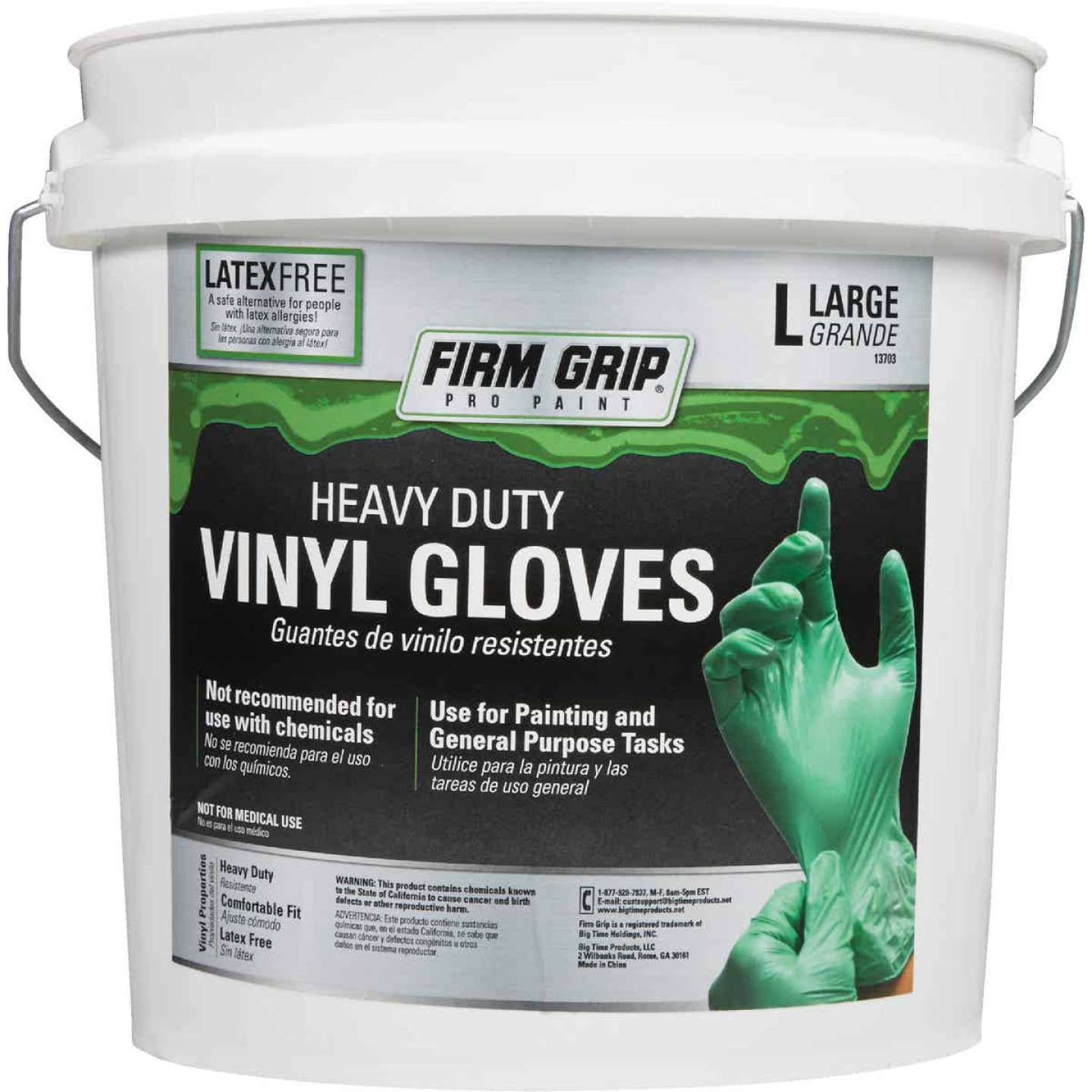 Firm Grip Large Heavy-Duty Vinyl Disposable Glove (300-Pack) Image 2