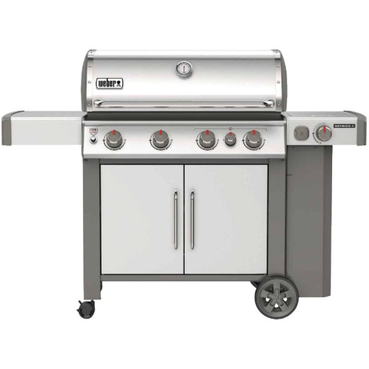 Weber Genesis II S-435 4-Burner Stainless Steel 48,000 BTU LP Gas Grill with 12,000 BTU Side -Burner